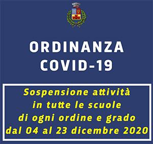 Ordinanza n.25/2020 – Sospensione attività educative