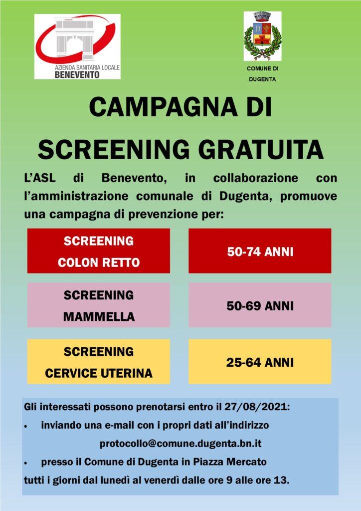 Campagna di screening gratuita